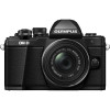 Olympus OM-D E-M10 Mark II + ED 14-42 mm f/3,5-5,6 EZ Pancake (Black) | 2 Years Warranty