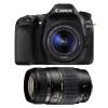 Canon EOS 80D + EF-S 18-55mm f/4-5.6 IS STM + Tamron AF 70-300 mm f/4-5,6 Di LD Macro | 2 Years Warranty