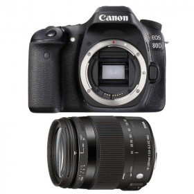 Canon EOS 80D + Sigma 18-200 mm f/3,5-6,3 DC OS HSM MACRO Contemporary | 2 Years Warranty