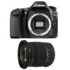 Canon EOS 80D + Sigma 17-50 F2.8 DC OS EX HSM | Garantie 2 ans