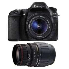 Canon EOS 80D + EF-S 18-55mm f/4-5.6 IS STM + Sigma 70-300 f/4-5,6 APO DG MACRO | 2 Years Warranty