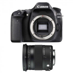Canon EOS 80D + Sigma 17-70 mm f/2,8-4 DC Macro OS HSM Contemporary | 2 Years Warranty