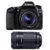 Canon EOS 80D + EF-S 18-55mm f/4-5.6 IS STM + EF-S 55-250 mm f/4-5,6 IS STM | 2 Years Warranty