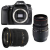 Canon EOS 80D + Sigma 17-50 DC OS EX HSM + Sigma 70-300 f/4-5,6 APO DG MACRO | Garantie 2 ans