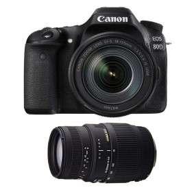 Canon EOS 80D + EF-S 18-135 mm f/3.5-5.6 IS USM NANO + Sigma 70-300mm F4-5,6 DG macro | 2 Years Warranty