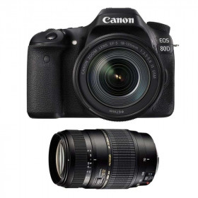 Canon EOS 80D + EF-S 18-135 mm f/3.5-5.6 IS USM + Tamron 70-300 mm f/4-5,6 Di LD Macro