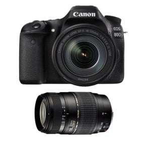 Canon EOS 80D + EF-S 18-135 mm f/3.5-5.6 IS USM + Tamron 70-300 mm f/4-5,6 Di LD Macro | 2 Years Warranty