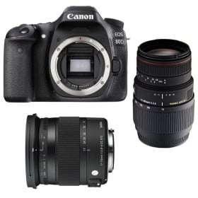 Canon EOS 80D + Sigma 17-70 Contemporary + Sigma 70-300 f/4-5,6 APO DG MACRO