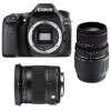 Canon EOS 80D + Sigma 17-70 Contemporary + Sigma 70-300 f/4-5,6 APO DG MACRO | 2 años de garantía
