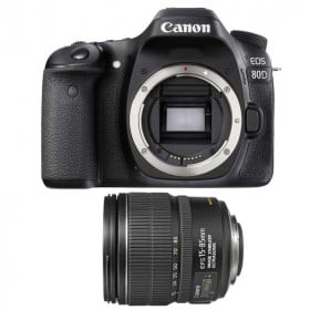 Canon EOS 80D + EF-S 15-85 mm f/3.5-5.6 IS USM | 2 Years Warranty