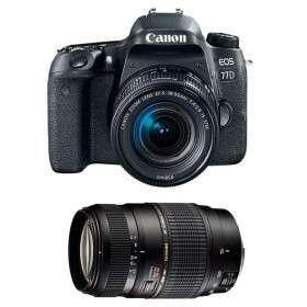 Canon EOS 77D + EF-S 18-55mm f/4-5.6 IS STM + Tamron AF 70-300 mm f/4-5,6 Di LD Macro   2 Years Warranty