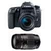 Canon EOS 77D + EF-S 18-55mm f/4-5.6 IS STM + Tamron AF 70-300 mm f/4-5,6 Di LD Macro | Garantie 2 ans