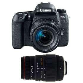 Canon EOS 77D + EF-S 18-55mm f/4-5.6 IS STM + Sigma 70-300 f/4-5,6 APO DG MACRO   2 Years Warranty