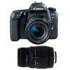 Canon EOS 77D + EF-S 18-55mm f/4-5.6 IS STM + Sigma 70-300 f/4-5,6 APO DG MACRO | 2 años de garantía