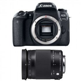 Canon EOS 77D + Sigma 18-300 mm f/3,5-6,3 DC OS HSM Contemporary Macro   2 Years Warranty