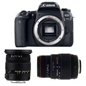 Canon EOS 77D + Sigma 17-50 mm f/2,8 DC OS EX HSM + Sigma 70-300 mm f/4-5,6 DG APO Macro   2 Years Warranty