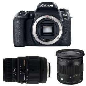 Canon EOS 77D + Sigma 17-70 mm f/2,8-4 DC Macro OS HSM Cont. + Sigma 70-300 mm f/4-5,6 DG Macro   2 Years Warranty