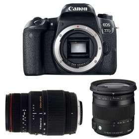 Canon EOS 77D + Sigma 17-70 mm f/2,8-4 DC Macro OS HSM Cont. + Sigma 70-300 mm f/4-5,6 DG APO Macro   2 Years Warranty