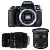 Canon EOS 77D + Sigma 17-70 mm f/2,8-4 DC Macro OS HSM Cont. + 70-300 mm f/4-5,6 DG APO Macro | 2 años de garantía