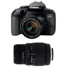 Canon EOS 800D + EF-S 18-55 f/4-5.6 IS STM + Sigma 70-300 mm f/4-5,6 DG Macro | 2 años de garantía