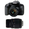 Canon EOS 800D + EF-S 18-55 f/4-5.6 IS STM + Sigma 70-300 mm f/4-5
