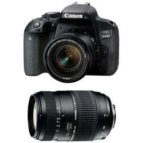 Canon EOS 800D + EF-S 18-55mm f/4-5.6 IS STM + Tamron AF 70-300 mm f/4-5,6 Di LD Macro | 2 años de garantía