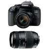 Canon EOS 800D + EF-S 18-55mm f/4-5.6 IS STM + Tamron AF 70-300 mm f/4-5,6 Di LD Macro | 2 Years Warranty