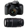 Canon EOS 800D + EF-S 18-55mm f/4-5.6 IS STM + EF 75-300 mm f/4.0-5.6 III