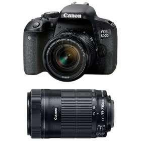 Canon EOS 800D + EF-S 18-55mm f/4-5.6 IS STM + EF-S 55-250 mm f/4-5,6 IS STM | 2 años de garantía