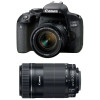 Canon EOS 800D + EF-S 18-55mm f/4-5.6 IS STM + EF-S 55-250 mm f/4-5,6 IS STM | 2 Years Warranty