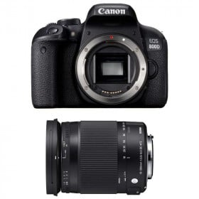 Canon EOS 800D + Sigma 18-300 mm f/3,5-6,3 DC OS HSM Contemporary Macro   2 Years Warranty