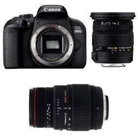 Canon EOS 800D + Sigma 17-50 F2.8 DC OS EX HSM + Sigma 70-300 f/4-5,6 APO DG MACRO   2 Years Warranty