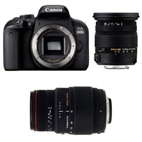 Canon EOS 800D + Sigma 17-50 F2.8 DC OS EX HSM + Sigma 70-300 f/4-5,6 APO DG MACRO