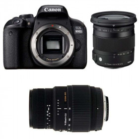 Canon EOS 800D + Sigma 17-70 mm f/2,8-4 DC Macro OS HSM Contemporary + Sigma 70-300 mm f/4-5,6 DG Macro   2 Years Warranty