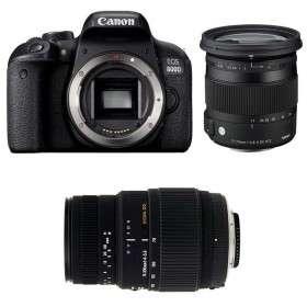 Canon EOS 800D + Sigma 17-70 mm f/2,8-4 DC Macro OS HSM Contemporary + Sigma 70-300 mm f/4-5,6 DG Macro