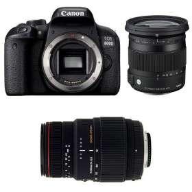 Canon EOS 800D + Sigma 17-70 mm f/2,8-4 DC Macro OS HSM Cont. + Sigma 70-300 mm f/4-5,6 DG APO Macro   2 Years Warranty