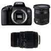 Canon EOS 800D + Sigma 17-70 mm f/2,8-4 DC Macro OS HSM Cont. + 70-300 mm f/4-5,6 DG APO Macro