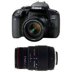 Canon EOS 800D + EF-S 18-55mm f/4-5.6 IS STM + Sigma 70-300 f/4-5,6 APO DG MACRO | 2 años de garantía