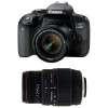 Canon EOS 800D + EF-S 18-55mm f/4-5.6 IS STM + Sigma 70-300 f/4-5,6 APO DG MACRO | Garantie 2 ans