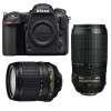 Nikon D500 + AF-S DX 18-105 mm f/3.5-5.6G ED VR + AF-S 70-300 mm f/4.5-5.6 G IF-ED VR   2 años de garantía
