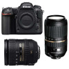 Nikon D500 + AF-S DX 16-85 mm f/3.5-5.6G ED VR + Tamron SP AF 70-300 mm f/4-5.6 Di VC USD | 2 años de garantía