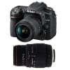 Nikon D7500 + AF-P DX NIKKOR 18-55 mm f/3.5-5.6G VR + Sigma 70-300 mm f/4-5,6 DG APO Macro | Garantie 2 ans
