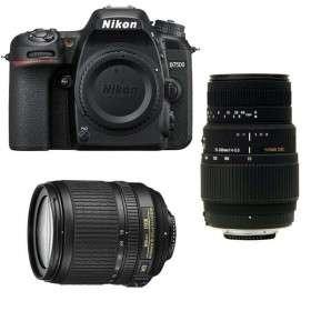 Nikon D7500 + AF-S DX 18-105 mm f/3.5-5.6G ED VR + Sigma 70-300 mm f/4-5,6 DG Macro
