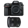 Nikon D7500 + Sigma 17-70 mm f/2,8-4 DC Macro OS HSM Contemporary | Garantie 2 ans