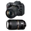 Nikon D7500 + AF-P DX NIKKOR 18-55 mm f/3.5-5.6G VR + Tamron SP AF 70-300 mm f/4-5.6 Di VC USD | Garantie 2 ans