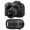 Nikon D7500 + AF-P DX NIKKOR 18-55 mm f/3.5-5.6G VR + AF-P DX 70-300 f/4,5-6,3 G ED VR | Garantie 2 ans
