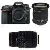 Nikon D7500 + Sigma 17-50 mm f/2,8 DC OS EX HSM + Sigma 70-300 mm f/4-5,6 DG APO Macro   2 Years Warranty