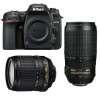 Nikon D7500 + AF-S DX 18-105 mm f/3.5-5.6G ED VR + AF-S 70-300 mm f/4.5-5.6 G IF-ED VR | Garantie 2 ans
