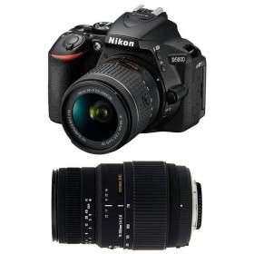 Nikon D5600 + AF-P DX NIKKOR 18-55 mm f/3.5-5.6G VR + Sigma 70-300 mm f/4-5,6 DG Macro   2 Years Warranty