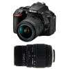 Nikon D5600 + AF-P DX NIKKOR 18-55 mm f/3.5-5.6G VR + Sigma 70-300 mm f/4-5,6 DG Macro | Garantie 2 ans